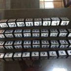 masa rezerve yazısı masa numara yazısı ayaklı masa isimlikleri